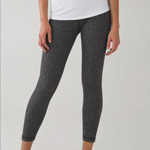 155182c487 lululemon athletica Pants | Lululemon 78 Wunder Under Herringbone ...